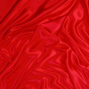 Атлас стрейч тонкий, art. 8001 №1 красный. Состав 92% полиэстер, 8% эластан