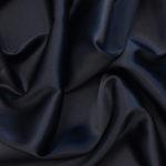 Атлас стрейч тонкий, art. 8001 №114 темно синий. Состав 92% полиэстер, 8% эластан