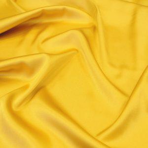 Атлас стрейч плотный, art.8020 №23 желтый. Состав 95% полиэстер, 5% эластан.