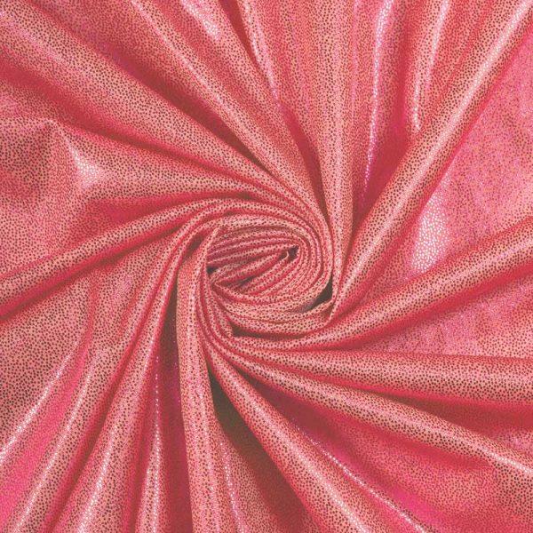 Голограмма трикотаж стрейч, арт. 8400, №6 красный. Состав 95% полиэстер, 5% спандекс.