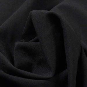 Костюмная однотонная (школа), арт. 721 черный, 35% вискоза, 65% полиэстер