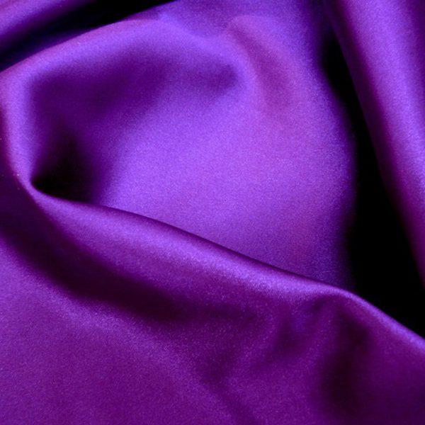 Атлас стретч тонкий, art. 8001 №85 фиолетовый. Состав 92% полиэстер, 8% эластан