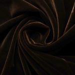 Бархат стрейч, арт. 8500 №12 коричневый. Состав: 92% полиэстер, 8% спандекс.