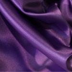 Атлас стрейч тонкий, art. 8001 №89 баклажан. Состав 92% полиэстер, 8% эластан