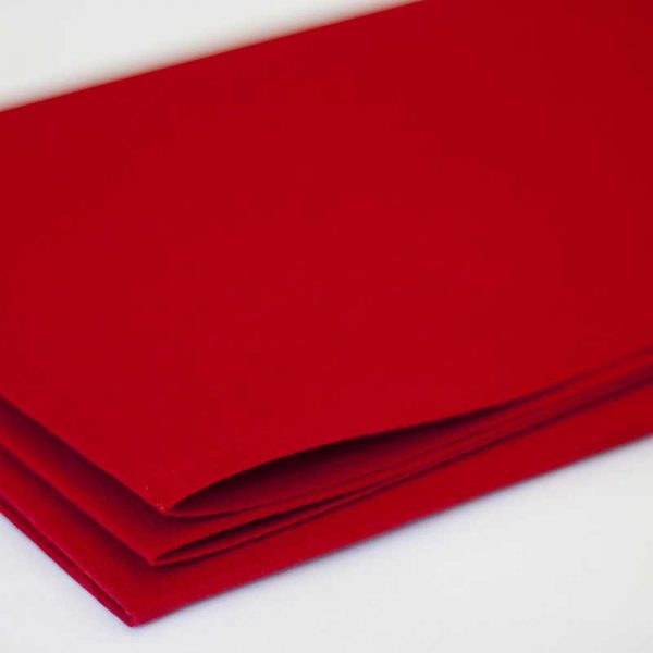 Фетр толщина 1 мм, ширина 0,85 м, №3 красный.