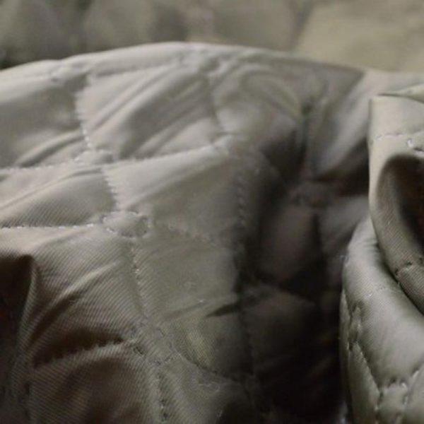 Стеганная подкладка на синтепоне, коричневая.