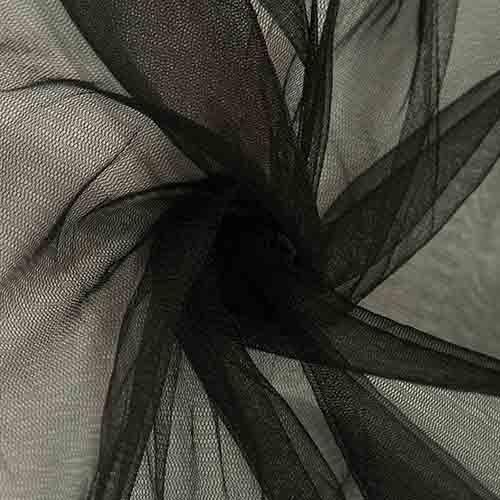 Фатин 20D мягкий блеск №21 черный