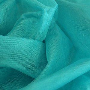 Фатин бирюзовый жесткий. Ширина 1,8 м. 100% Nylon.
