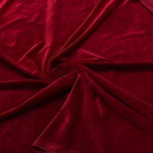 Бархат стрейч art.8500 №10 темно-красный