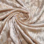 Бархат стретч art.8500 №15 светло-бежевый мраморный