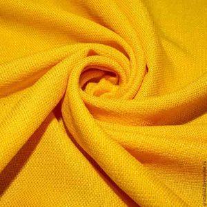 Костюмная Рогожка, арт. 0977, желтая. Состав 95% полиэстер, 5% эластан.