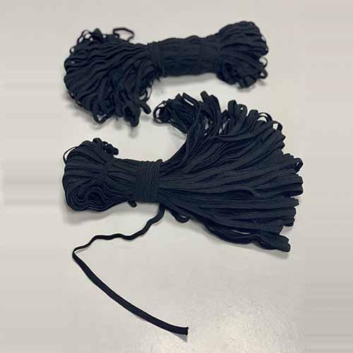 Резинка черная 5мм 50м бобина